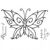 Woodware - Curly Butterfly - Clear Magic Stamp Set - FRS259